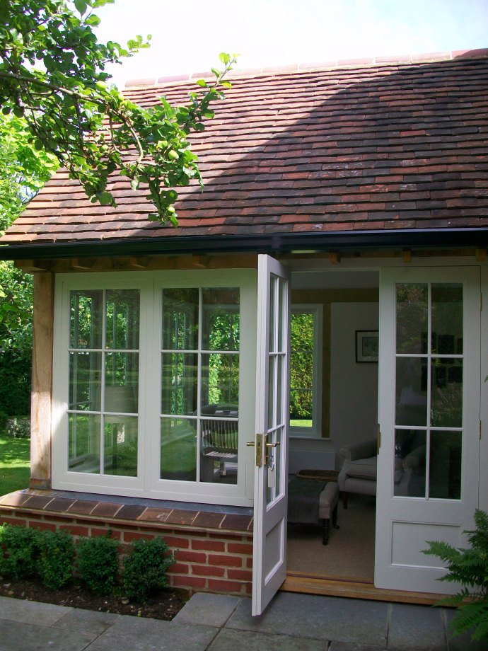 doors onto patio
